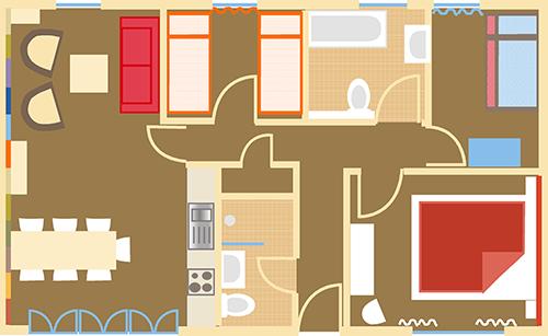 Grundriss Ferienhaus Altfarpen